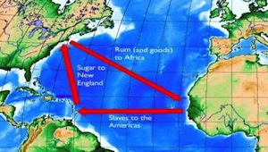 describe the triangular slave trade between Europe , Africa , and ...