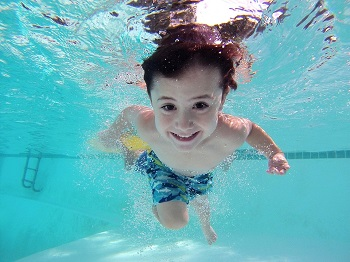 swimming child