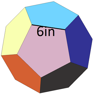 how to find the surface area of a dodecahedron