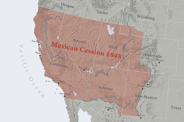 Mexican Cession Of Definition Facts Map Video Lesson - Map of us land originally held by mexico