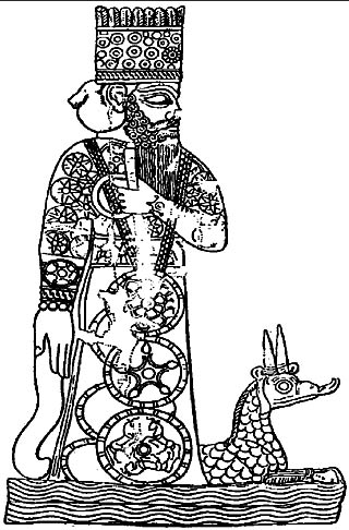 An ancient depiction of Marduk.
