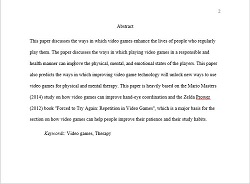 Abstract in a research paper