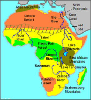Geography of Africa Studycom