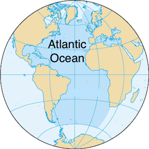 Where is the atlantic ocean