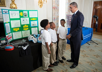Photograph of the White House Science Fair.