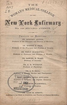 a biography of elizabeth blackwell the first woman doctor of the united states Elizabeth blackwell, md (1821-1910), was the first woman to graduate from medical school in the united states and is often thought of as america's first woman doctor.