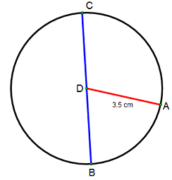 How to find the diameter of a circle definition formula circle with a radius of 35 cm ccuart Image collections