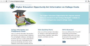 US Department of Education Lists College Tuitions on New Website