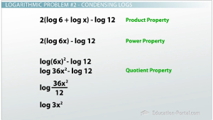 Condensing Logs Example 2