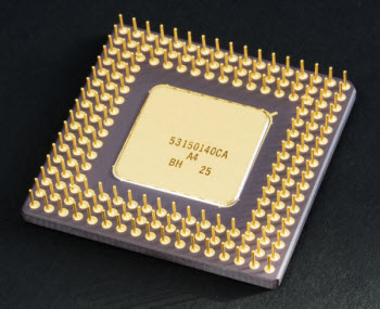 bottom-view of Intel CPU