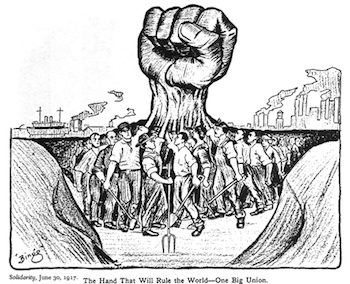 one big fist which unifies the working class