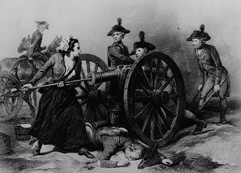 Drawing of Molly Pitcher