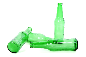 Picture of empty alcohol bottles