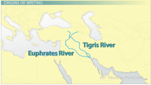 Euphrates Tigris Rivers Map
