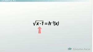 Example 3 Inverse Functions
