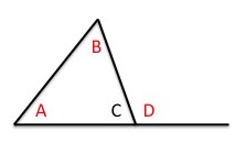 Worksheet triangle sum and exterior angle theorem work for Exterior of an angle definition