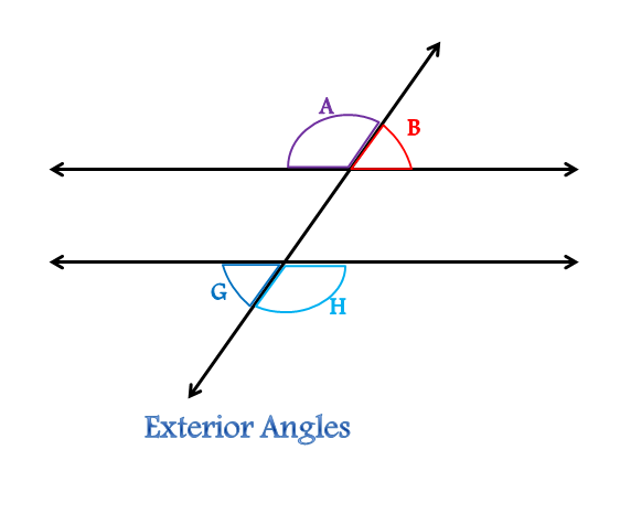 Define alternate interior angles alternate exterior for Exterior angle theorem