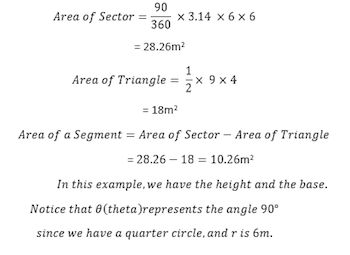 Segment of a circle definition formula video lesson area of segment3 ccuart Gallery