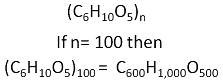 Starch molecule chemical formula example