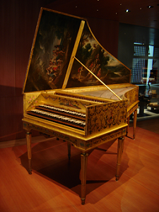 Photo of Baroque harpsichord