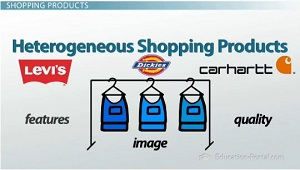 Heterogenous Shopping Products