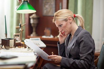 Woman studying laws