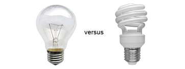 Incandescent vs CFL