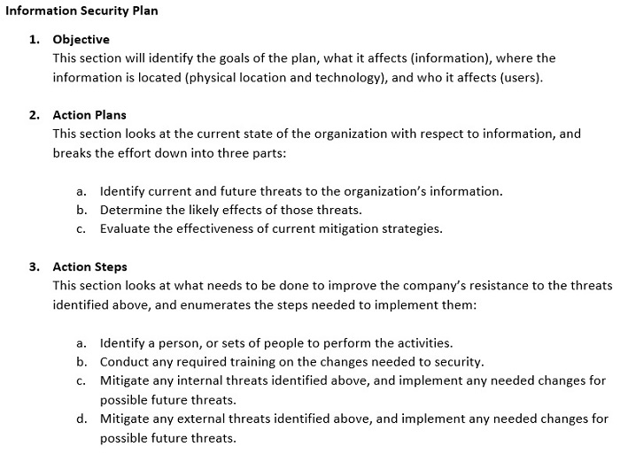 Information Security Plan: Examples & Incident Response | Study.com