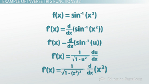 Inverse Trig Derivative Example 2