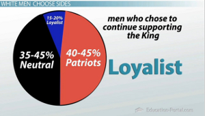 Loyalist Patriot Pie Chart
