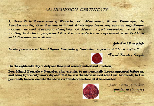 Manumission Contract