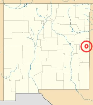 Map of Clovis, NM