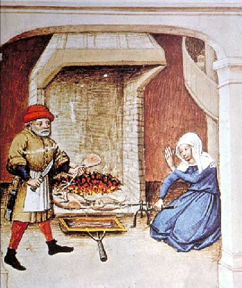 A medieval cook and roasting specialist in The Decameron by Giovanni Boccaccio