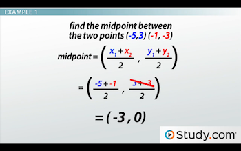 example 1 for midpoint formula