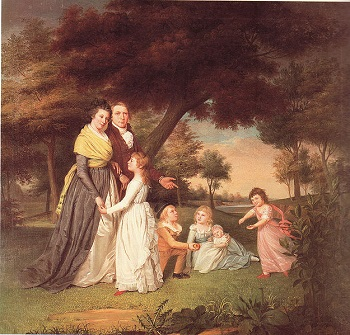 Painting of idealistic Revolutionary family