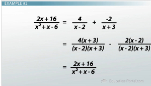 Partial Fraction Example 2 Checking
