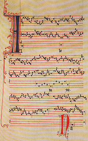 Image of melismatic chant.