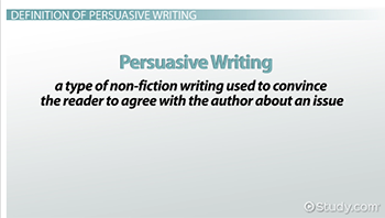 what is persuasive text definition examples video lesson facts about persuasive writing
