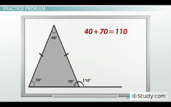 Interior And Exterior Angles Of Triangles Definition Examples Video Lesson Transcript