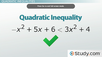 example of a quadratic inequality