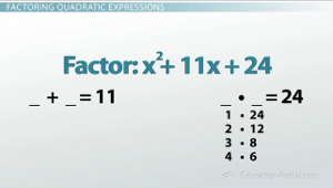 Quadratic Factoring Example 1
