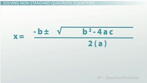 how to get from standard form to quadratic formula