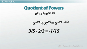 Quotient of Powers Example Problem