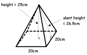 Pics For > Rectangular Pyramid Surface Area
