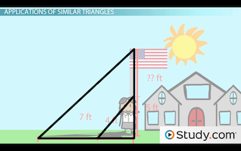 diagram of Sarah and the flagpole triangle