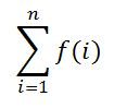 sigma summation