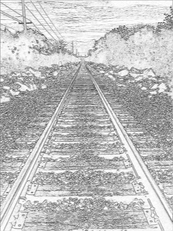 Sketch of Railroad Tracks