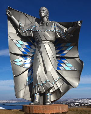 This South Dakota statue is called Dignity, the same sentiment behind Native American Day.