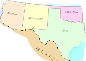 Southwest Region Of The US Facts Lesson For Kids Studycom - Us and mexico map for kids