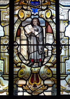 Thomas Tallis stained glass window at St. Alfrege
